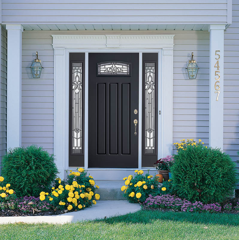 faux stone door the to that fiberglass matched grained have or htm woodgraining been exterior doors colors with wood
